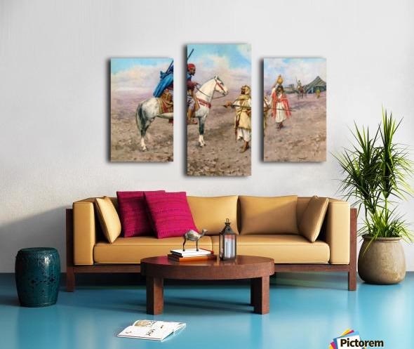 A desert camp Canvas print