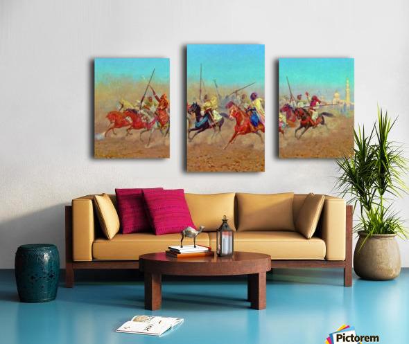 Charging Horsemen Canvas print