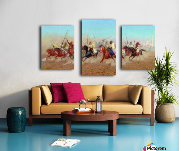 Horsemen Outside The Northern Cemetery Canvas print