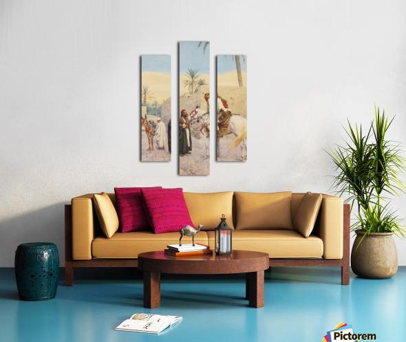 Landscape with horses Canvas print
