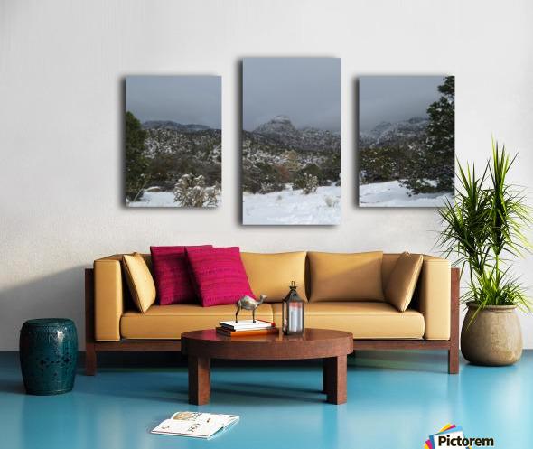 Sandia Mountains in the Snow 7 VP Canvas print