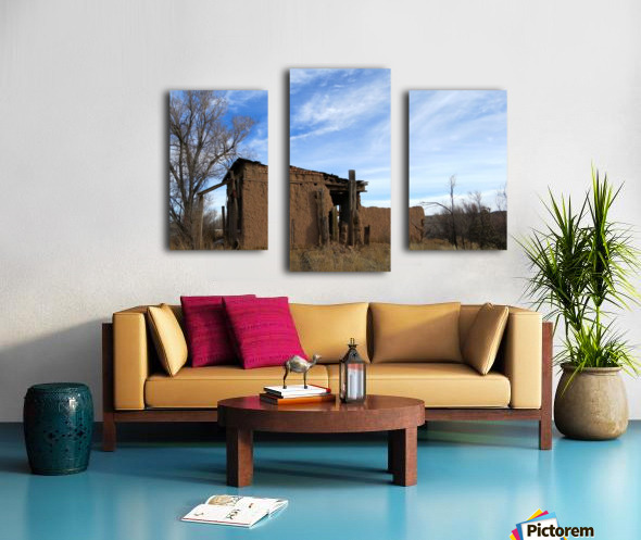 Turquoise Trail - Ruins in Golden 2VP Canvas print