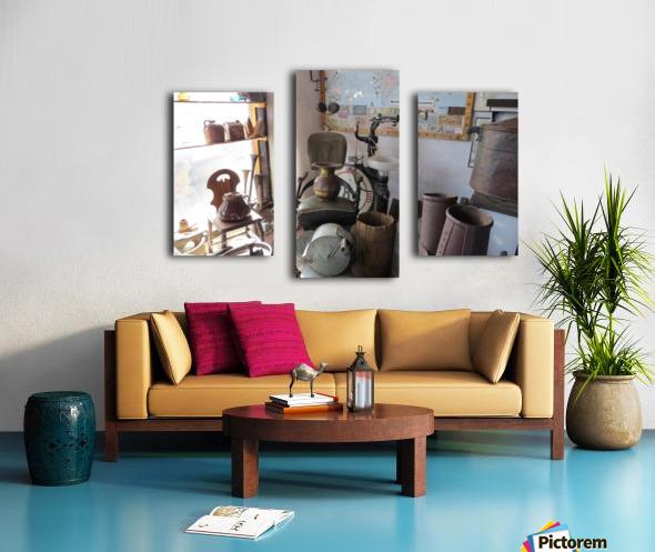 Turquoise Trail - Dentist Chair in Cerrillos  1VP Canvas print