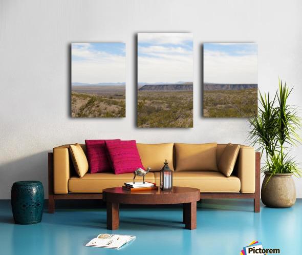 Landscape around Fort Craig VP5 Canvas print