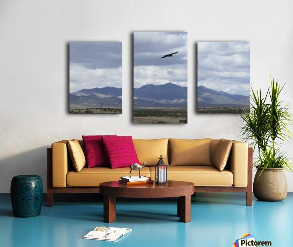 Mountains overlooking Highway 1  VP2 Canvas print