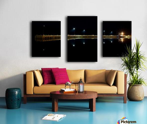 Nighttime at la Digue Canvas print