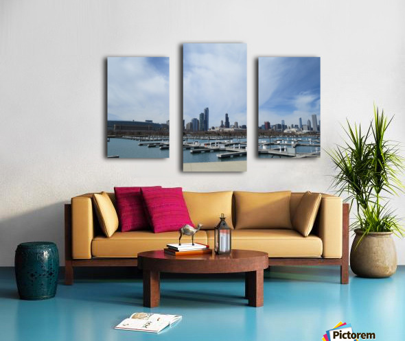 View of Burnham Harbor from Northerly Island  VP4 Canvas print