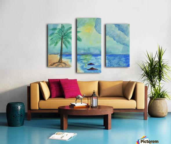 Aqua Sky Ocean Scene Canvas print