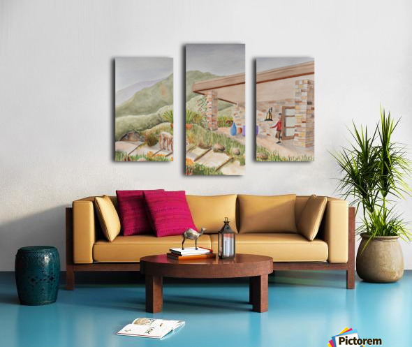 Back Patio Canvas print