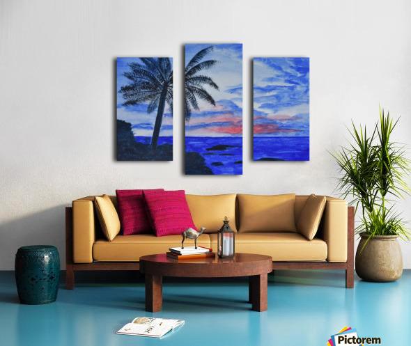 Dusk Ocean Scene Canvas print