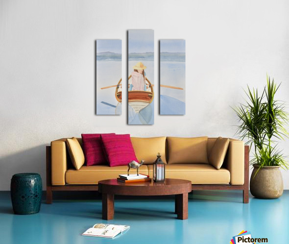 Girl in Rowboat Canvas print