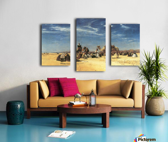 Rast in der Araba Canvas print