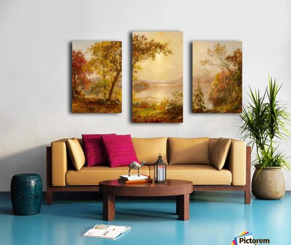 Lake Autumn on the Hudson Canvas print
