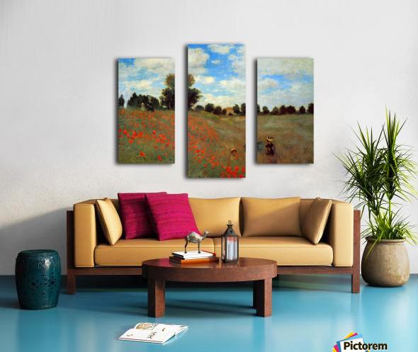 Les Coqueliquots Canvas print