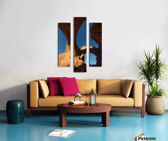 Below Double Arch Canvas print