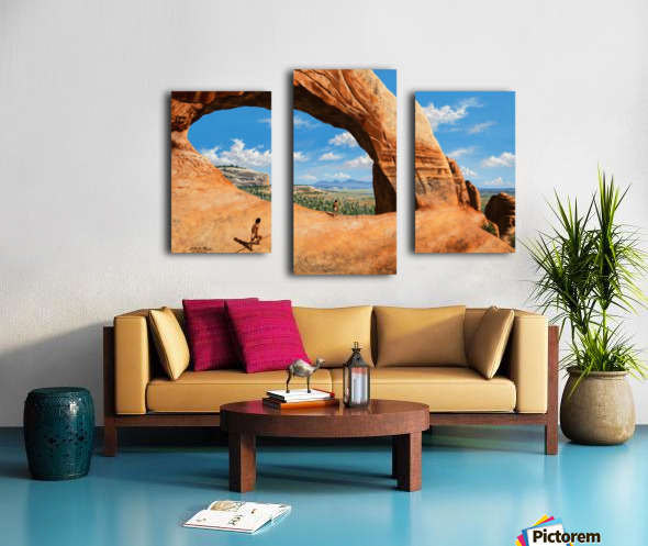 Discoverers of Wilson Arch Canvas print
