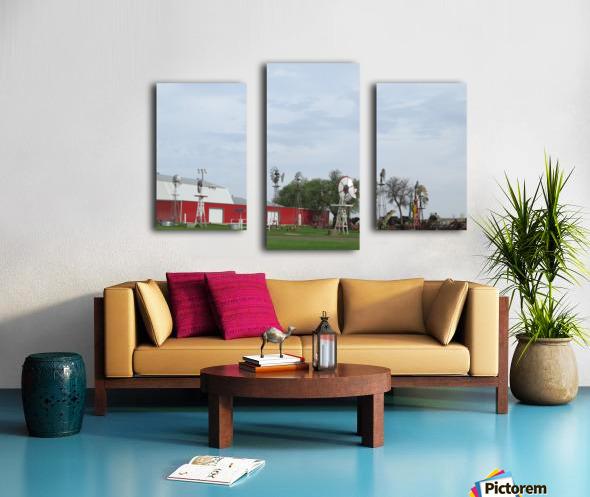 Windmills in Elk City, OK Canvas print