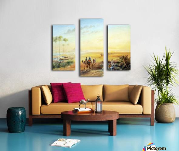 An Oasis at Giza Canvas print