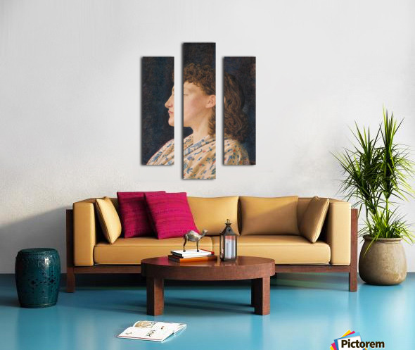A Girl's Portrait Canvas print