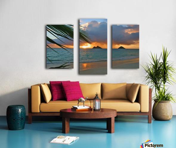 sunrise at Lanikai beach Canvas print
