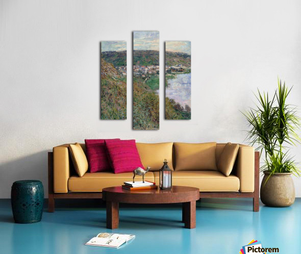 Monet - View of Vetheuil Canvas print