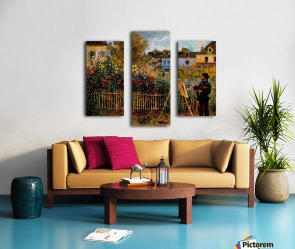 Monet painting in his garden in Argenteuil Canvas print