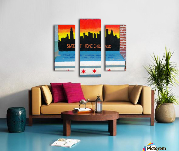 Chicago - Bench Art in Rogers Park Canvas print