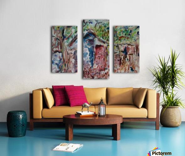 The Hut Canvas print
