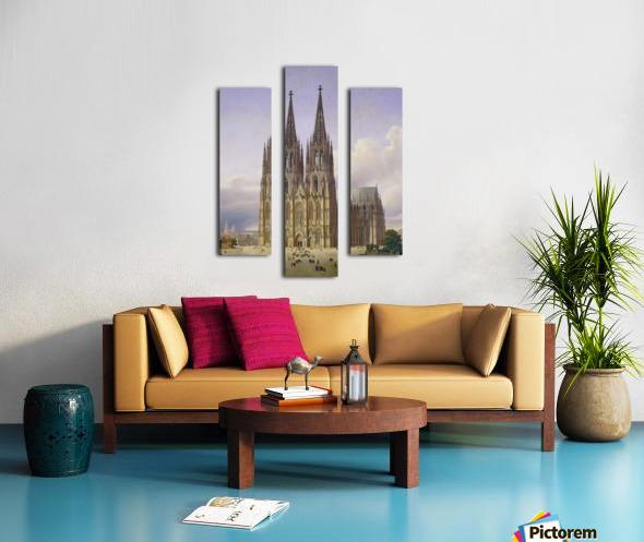 Idealansicht des Kolner Doms Canvas print