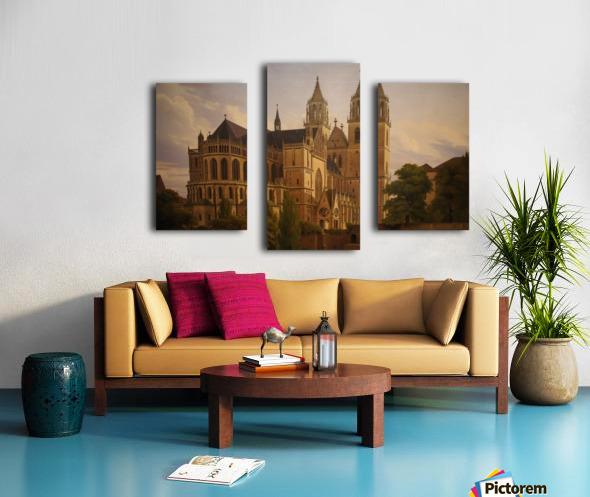 Magdeburger Dom 1828 Canvas print