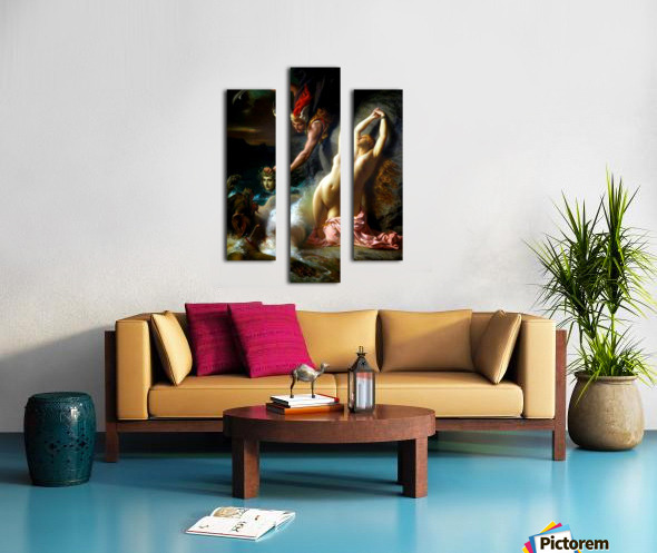 Andromeda chained to a rock Canvas print