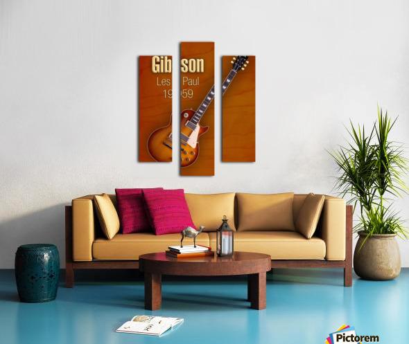 Vintage Gibson Les paul 1959 Canvas print