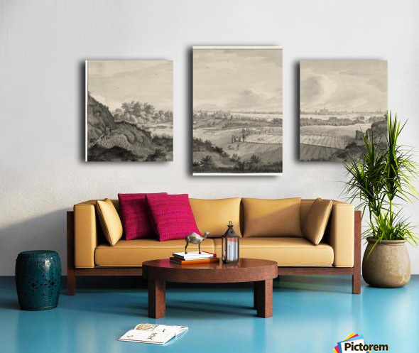 Bloemendaal Bleaching Fields with Haarlem in the Distance Canvas print