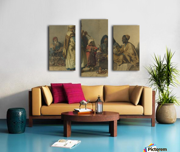 A party with music Canvas print