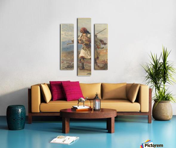 Greek Warrior Canvas print