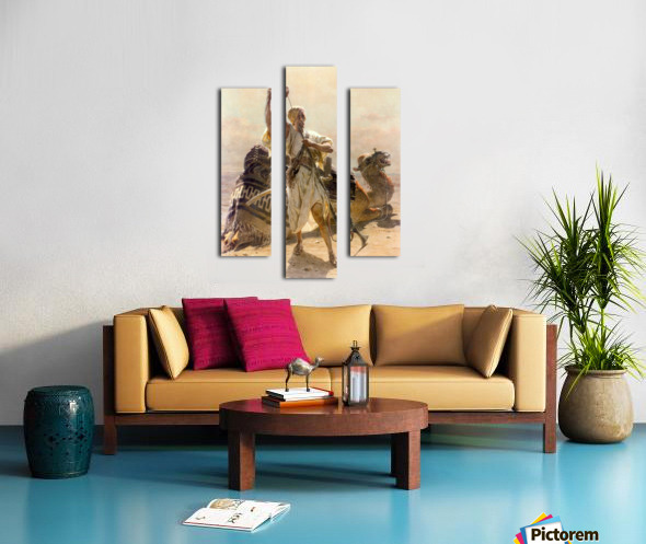 A warrior with a camel Canvas print
