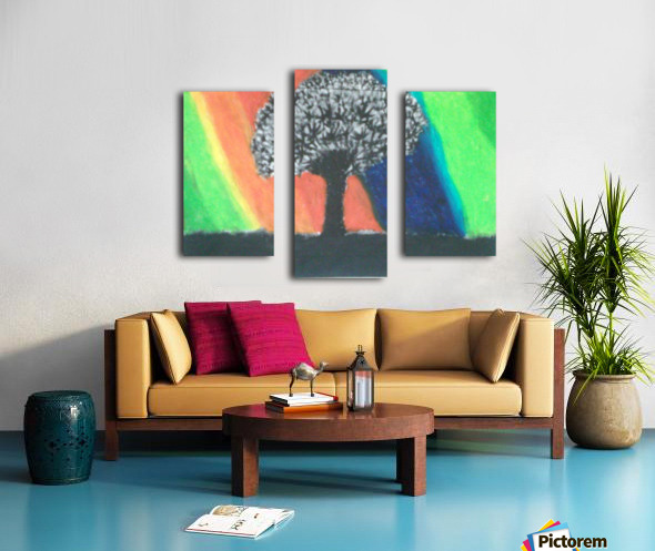 Shadowed tree Canvas print