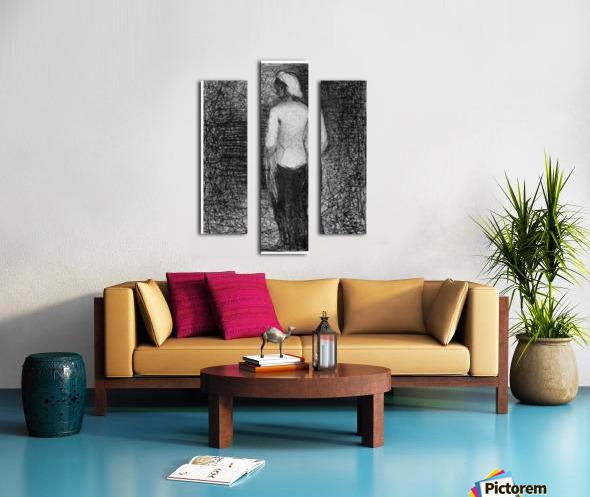 Artist by Seurat Canvas print