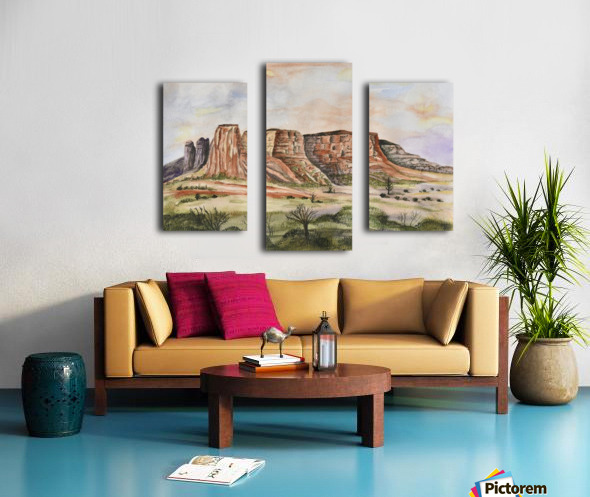 Buttes of Sedona  Canvas print