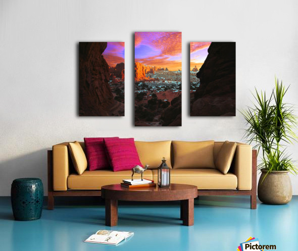Rocky Buttes Viewed Through Canyon Canvas print