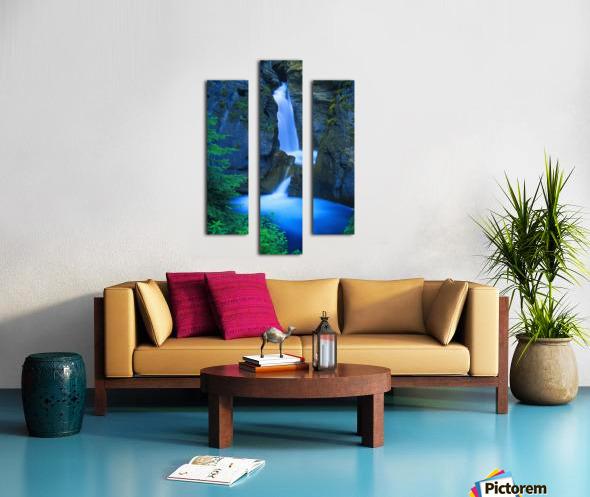 A Beautiful Waterfall, Johnston Canyon, Banff, Alberta, Canada Canvas print