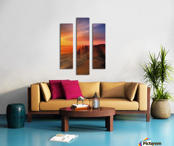 Sunset And Rock Formations Canvas print