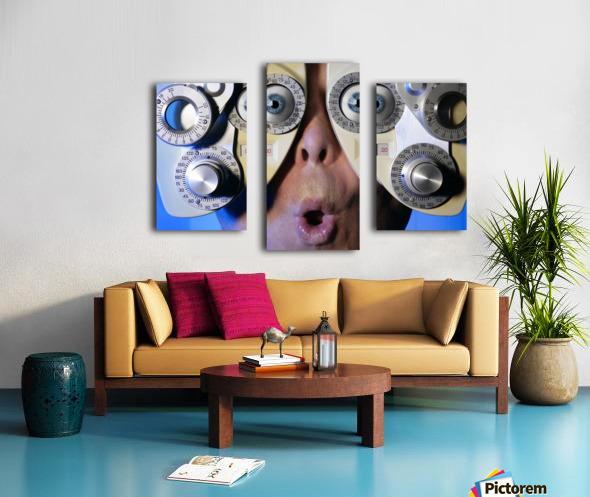 Eye Exam Canvas print