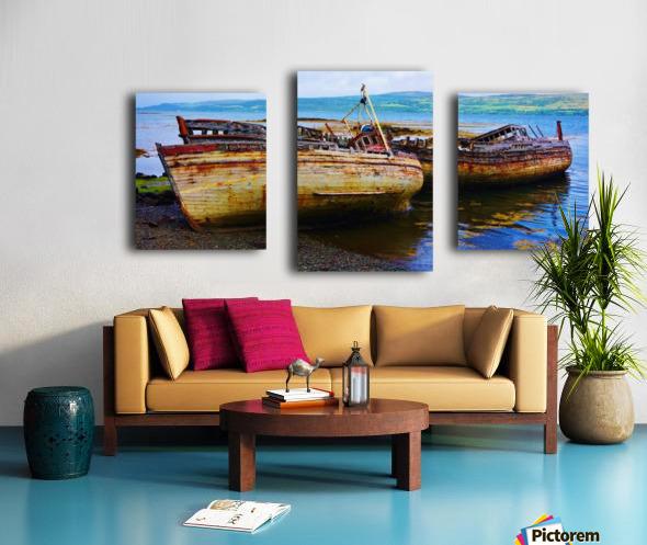 Three wrecks Canvas print