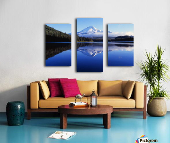 Trillium Lake With Reflection Of Mount Hood, Mount Hood National Forest Canvas print
