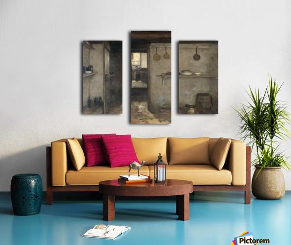 Doorkijkje in het onderhuis van Weissenbruch's woning in Den Haag Canvas print
