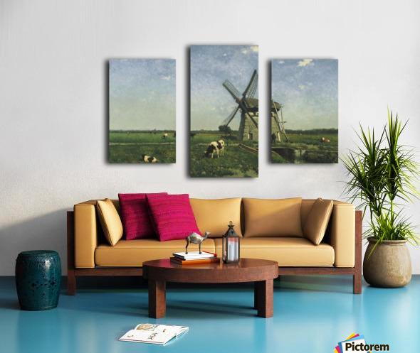 Landscape with Windmill near Schiedam Canvas print