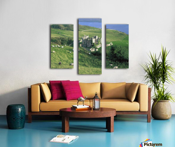 Clifden Castle, Co Galway, Ireland; 19Th Century Gothic Revival Style Castle Canvas print