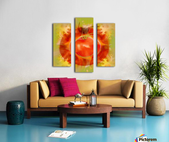 Illustration Of Tomato Canvas print