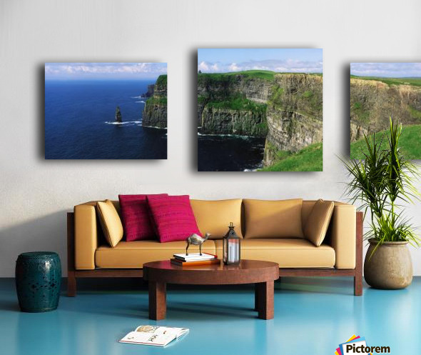 Cliffs Of Moher, Co Clare, Ireland; Cliffs On The Atlantic Ocean Canvas print